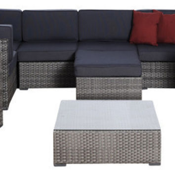 2017 New Design 9-Piece Grey Wicker Outdoor Furniture Seating Sofa Set