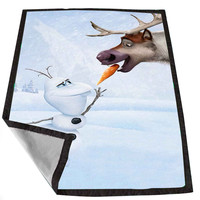 Frozen Olaf And Sven d3e343e3-8984-4797-8487-8af09654be32 for Kids Blanket, Fleece Blanket Cute and Awesome Blanket for your bedding, Blanket fleece *02*