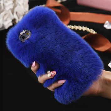 LUXURY 100% REAL RABBIT FUR CASE FOR IPHONE