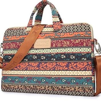 Kinmac 2015 New Bohemian Laptop Briefcase 11inch/12inch/13 Inch Laptop Sleeve for Macbook Air 13/macbook Pro 13 and 11.6inch/12.5inch/13.3 Inch Dell/hp/lenovo/sony/toshiba/ausa/acer/samsung Laptop Case