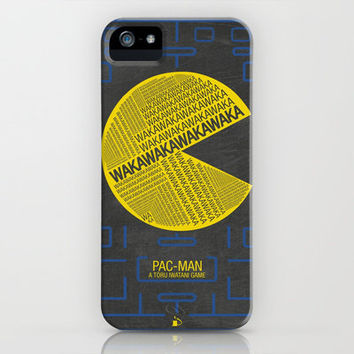 Pac-Man Typography iPhone & iPod Case by Kody Christian