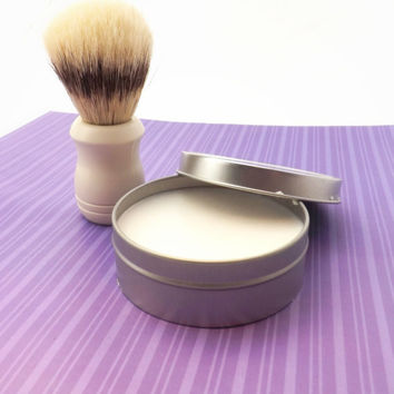 Women's Shave Set; Lavender Basil Shave Soap, Boar Bristle Brush & Shave Soap; Christmas Stocking Stuffer or Birthday Gift
