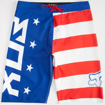 Fox Red White And True Mens Boardshorts Royal  In Sizes