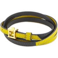FENDI - Double wrap leather bracelet | Selfridges.com