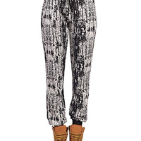 Abstract Print Drawstring Joggers | Wet Seal