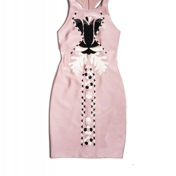 Cynthia Rowley - Embroidered Bonded Fitted Dress | Cynthia Rowley Dresses
