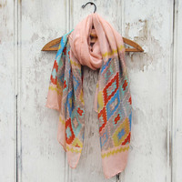 Midnight Sun Scarf in Pink