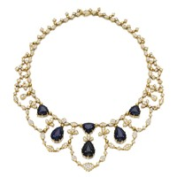 Sapphire and diamond necklace | Lot | Sotheby's