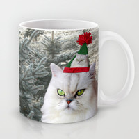 Christmas Tree and Cat Mug by Erika Kaisersot