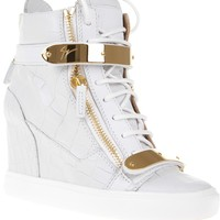 GIUSEPPE ZANOTTI DESIGN crocodile effect wedge sneaker