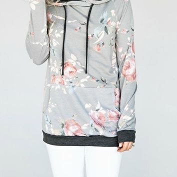 Never Better Floral Hoodie