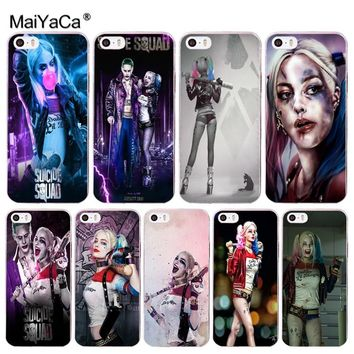 MaiYaCa Harley Quinn Suicide Squad Joker Coque Shell Phone Case  for Apple iPhone 8 7 6 6S Plus X 5 5S SE 5C Cover XS XR XSMAX