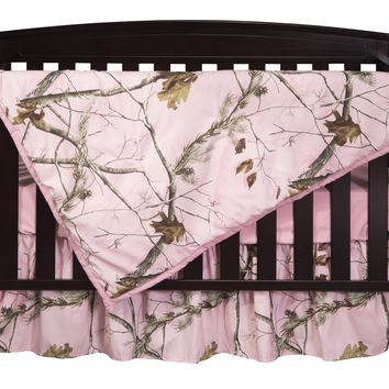 Realtree AP Pink Camo Three Piece Crib Set