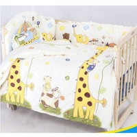 OUTAD Cute 100*58cm/110*60cm 5pcs/Set Promotion Cotton Baby Children Bedding Set Comfortable Crib Bumper Organizer Cot Kit Hot