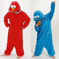 Adult animal pajamas one piece cookie cosplay monster pajama Onesuits for adults costume animal jumpsuit pajama free shipping