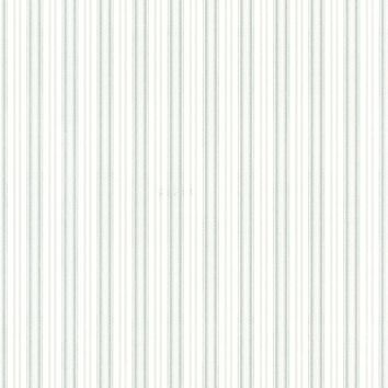Brewster Wallpaper 2668-21515 Anne Teal Ticking Stripe
