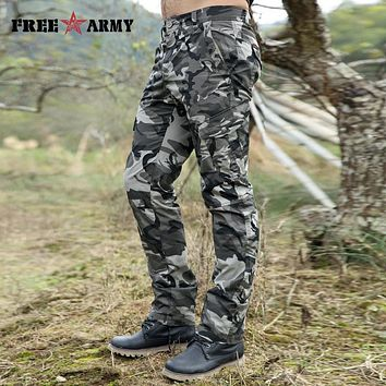 City Tactical Cargo Pants Men Combat SWAT Army Military Pants Cotton Pockets Stretch Paintball Militar Casual Camouflage Trouser