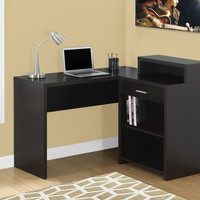Computer Desk - Cappuccino Corner With Storage