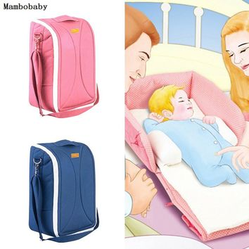 Mambobaby 2 in 1 Crib Baby Nappy Bags Portable Foldable Baby Bed Mummy Bag For Stroller Travel Babybed Cot Diaper Change Station