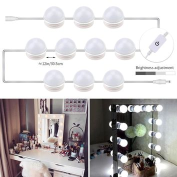 CanLing LED Vanity Light Makeup Mirror Lamp DC12V Dressing Vanity Table Mirror Bulb 12W 16W 20W Hollywood Mirror Light AC85-265V