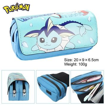 School Backpack Cartoon Cosmetic Case Pokemon school bags Big pen Case Super Large Capacity Stationery Bags Storage package AT_48_3