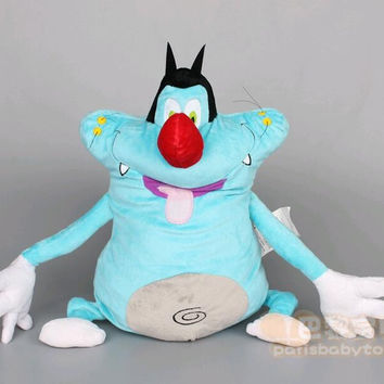 Free shipping 38CM Oggy and the Cockroaches Fat Cats Toys & Hobbies Stuffed & Plush Animals doll for Children Soft kids gift