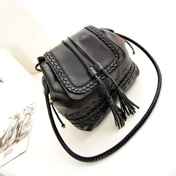 Stylish Vintage Tassels Ladies Bags Shoulder Bags [6582661255]