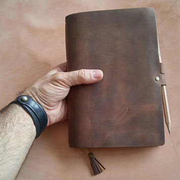 A5 Leather  Notebook, A5 Leather  Notepad Cover, Leather A5 Journal, A5 Notepad, leather A5 notepad,FREE SHIPPING