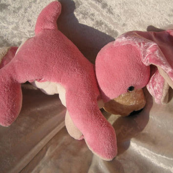 PINK Spaniel CUDDLY PUPPY - playful rose Labrador - Sparkling Eyes - soft stuffed plush Toy Dog Animal - designed and made in Berlin-Germany