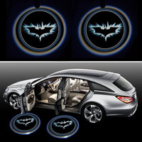 2x Night Cold Blue bat batman Black Wireless car door LED projection projector light courtesy welcome logo shadow ghost light laser projector Magnet Sensor = 1927813956