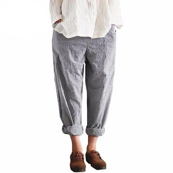 Stripped Pencil Trouser Pant