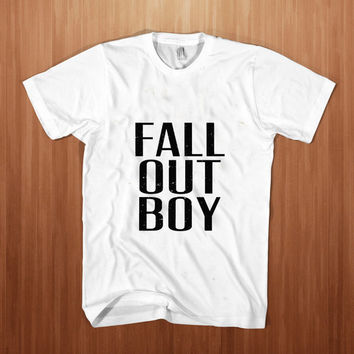 Fall Out Boy Logo shirt men t-shirt FOB tee meth Patrick Stump white
