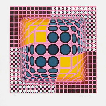 Untitled, Limited Edition Silk-screen, Victor Vasarely
