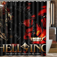 Shower Curtain II Custom Shower Curtain II Hellsing Anime Custom Shower Curtain