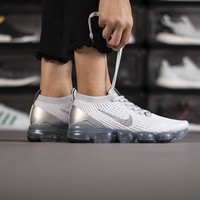 HCXX 19June 948 Nike AJ6900 101 Air Vapormax Flyknit 3.0 Fashion Breathable Running Shoes White Silver