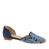 PRE-ORDER COLLECTION CLEO EMBROIDERED D'ORSAY LOAFERS