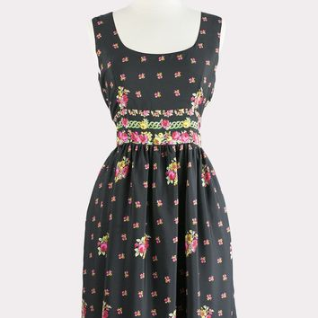 Valley Rose Floral Dress