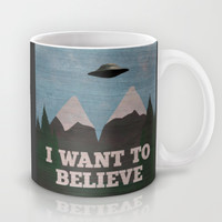 X-Files Twin Peaks Mashup Mug by Justin Cybulski