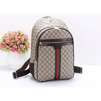 """GUCCI"" Popular Women Men Casual Sport Laptop Bag Shoulder School Bag Backpack(3-Color)"