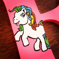 MY LITTLE PONY INSPIRED HAND PAINTED WOOD WALL LETTERS