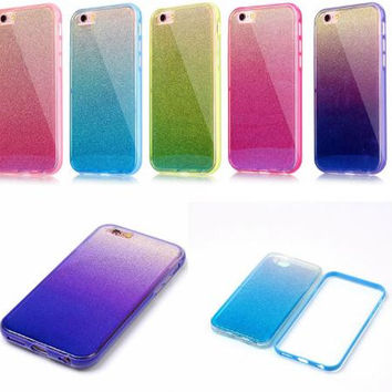 Graded flash powder phone case for iphone 7 7 plus 5 5s SE 6 6s 6plus 6s plus + Nice gift box! -LJ-005