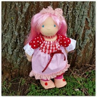 """16"""" waldorf doll and her little rag doll RESERVED for curlysue13"""