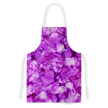 """Claire Day """"Pink"""" Magenta Painting Artistic Apron"""