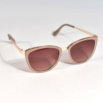 Mocha Brown Cannon Cat Eye Sunglasses