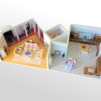 Golden Girls House Scale Model-- 6151 Richmond Street Playset