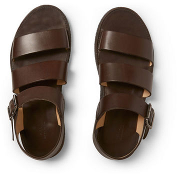 A.P.C. - Crepe-Sole Leather Sandals | MR PORTER
