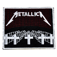 Metallica Patch Iron on Applique Master of Puppets Alternative Metal Clothing