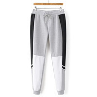 Stylish Patchwork Sports Casual Pants [8511459911]