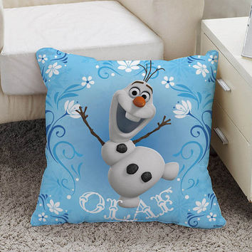 disney Frozen Cute Olaf Pillow case size 16 x 16, 18 x 18, 16 x 24, 20 x 30, 20 x 26 One side and Two side