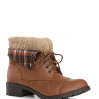 Nebraska Plaid Boots - Brown